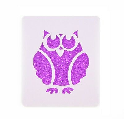 Owl Face Painting Stencil 7cm x 6cm 190micron Washable Reusable Mylar