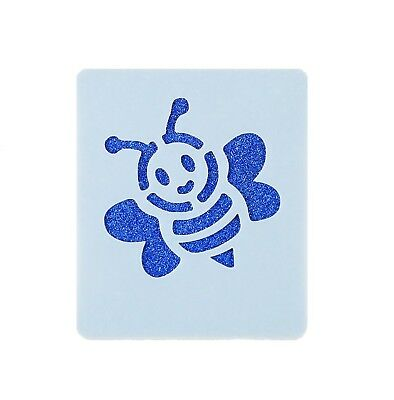 Bumble Bee Face Painting Stencil 7cm x 6cm 190micron Washable Reusable Mylar