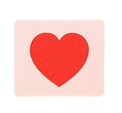 Heart Face Painting Stencil 7cm x 6cm 190micron Washable Reusable Mylar