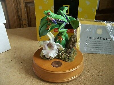 Will Ship Red Eye Tree Frog Music Box National Geographic Limited Edition New