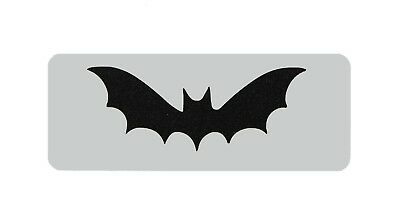 Flying Bat Forehead Face Paint Stencil 11cm x 4.5cm Reusable Washable