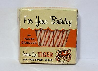 Vintage Humble Gas Station Give Away Birthday Candles from the Tiger