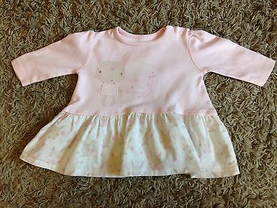 Mothercare Mummy Bunny Baby Girl  Dress 0-3 Months