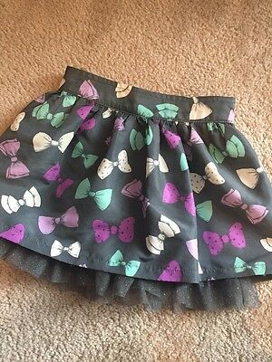 Girls Size 5 Sonoma Bow And Tulle Skirt Skort Shorts Scooter