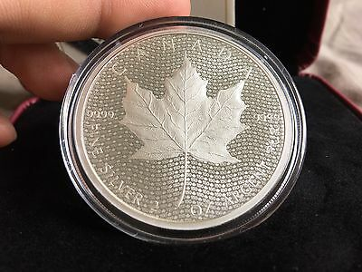 2017 $10 Canada 2oz 150th Ann. Iconic Maple Leaf Matte Proof OGP & COA