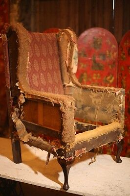 Late Victorian Wingback Armchair Upholstery Project