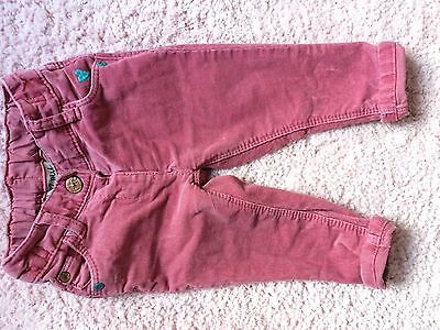 Baby Girls Next Pink Cord Trousers 6-9 Months
