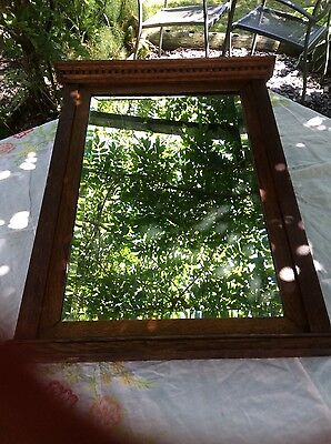 Antique Army & Navy CSL London Bombay Calcutta bevel edged wood framed mirror