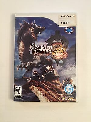 Monster Hunter 3 Tri Nintendo Wii Complete In Case