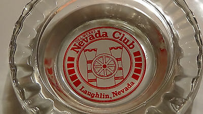 RARE DEL WEBB'S NEVADA CLUB ( ODD SHAPE  ) LAUGHLIN  NV glass CASINO ASHTRAY