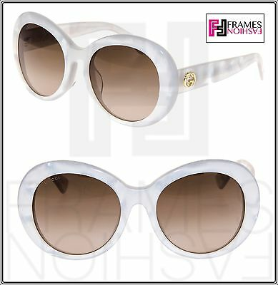 a89274499590 GUCCI GG3829FS MOTHER of Pearl Gold White oval Chunky Sunglasses 3829 Asian  Fit - $299.00 | PicClick