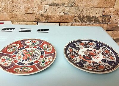 Antique Japanese small plates x 2