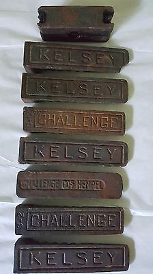 Letterpress Printing Press Quoins 8 Pieces - Wickersham, Kelsey, Challenge Rare