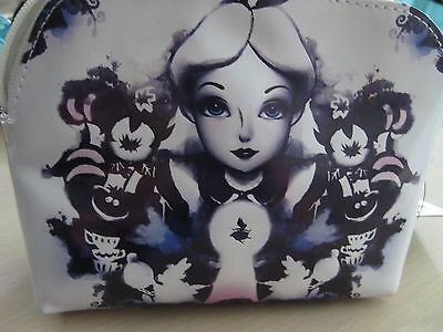 Disney Alice Wonderland Watercolor Story Make Up Cosmetic Bag Brand New