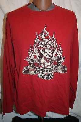 Vintage Cross Canadian Ragweed Long Sleeve T Shirt Size XL Adult RARE