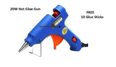 20W Electric Hot Melting Glue Gun Crafts DIY Trigger 10 Glue Sticks UK Seller