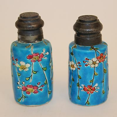 Longwy Faience Salt & Pepper Shakers Matched Pair