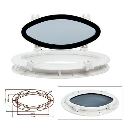 "16""X8-5/8"" Opening Porthole Portlight Replacement Window Oval AU Fast Ship"