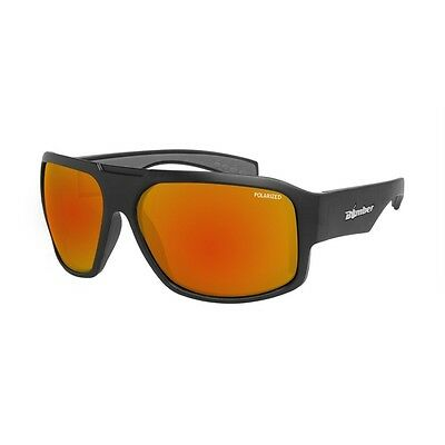 Bomber Sunglasses Mega Bomb Matte Blk Frm, Red Mirror Polarized Lens, Gray Foam