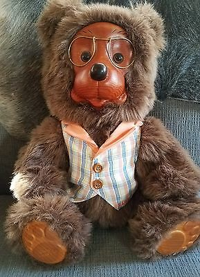Original Robert Raikes Jason Bear ~ Wood Face & Feet ~ Adopt Me!!!