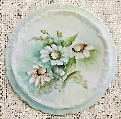 ANTIQUE EARLY TO MID 20th CENTURY COLORFUL HAND PAINTED PORCELAIN TRIVET***