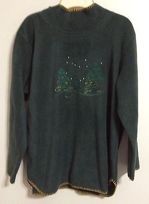 Coldwater Creek Christmas trees Sweater Womens M