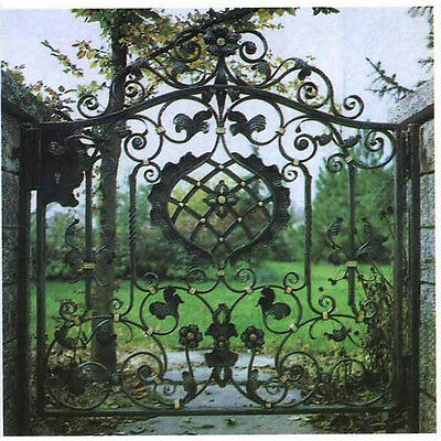 Awesome Cast Iron Garden/Yard Flower Entry Gate- Door with Posts,60'' x 64''H.