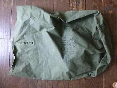 US WWII Army Military Canvas Duffel Bag ~Waterproof~NAMED