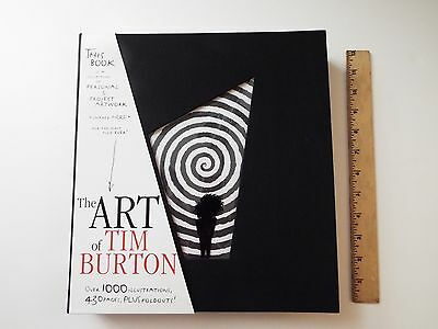 the art of tim burton-like-new-personal & project artwork-430 pages-foldouts