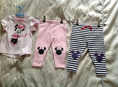 Baby Girls Minnie Mouse Bundle (Top & Leggings) / size 0