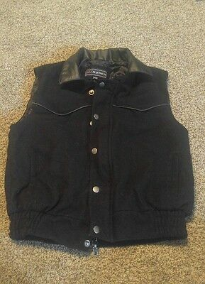 Kids Roper Pocketed Snap and zip Front Vest Size XL (12)