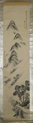 Japanese Hanging Scroll Landscape Painting Fine Picture Asian art Old Japan p82