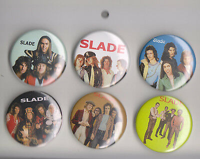 Slade Set of 6 Pins Very Collectible