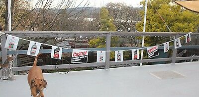 Castrol    Motor  Oil     Banner   Hot Rod     Racing   Decor