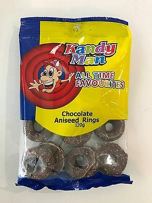 480g x Chocolate Aniseed Rings Lolly Candy Buffet Sweets Lollies Party Favors