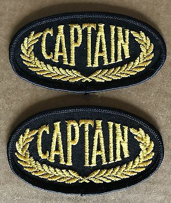 Captain Cloth Patch First Officer Cargo Ship Merchant Navy Marine Shipmaster