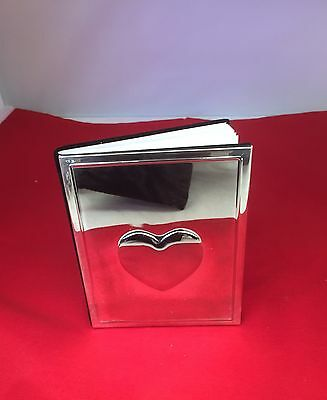 Silver Plated Love Heart Address Book