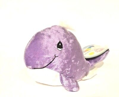 PRECIOUS MOMENTS TENDER TAILS  PURPLE WHALE Plush