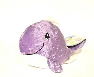 PRECIOUS MOMENTS TENDER TAILS  PURPLE WHALE Stuffed Animal Doll