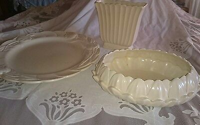 Vintage  Collection of 3 Spode Velamour England Pieces- Vase, Plate &Trough/Bowl