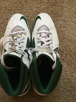 Nike Air Max Green And White Men's High-top Sneaker Shoes- Size 14.5