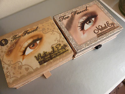 2 Too Faced Naked Eye & Natural eye palettes shadow rrp £26each READ DESCRIPTION