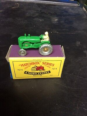 MATCHBOX MOKO LESNEY No4 TRACTOR IN GREEN. Massey-Harris. With Box