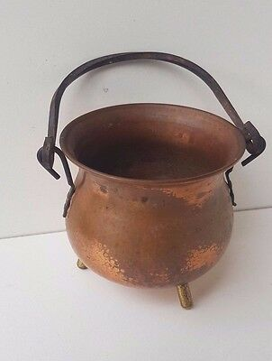 vintage copper pot stamped made in great britain