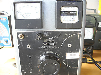 General Radio Co. Variac W10MT3A S3, Extra amp meter, and printed literature