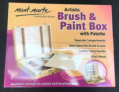Mont Marte Large Artists Brush and Paint Box with Palette Artisit Art Supply