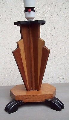 art deco handmade electric table lamp vintage sunburst design
