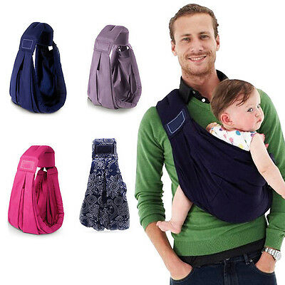 100% Cotton Infant Baby Toddler Kids Newborn Ring Sling Wrap Carrier Pouch MN