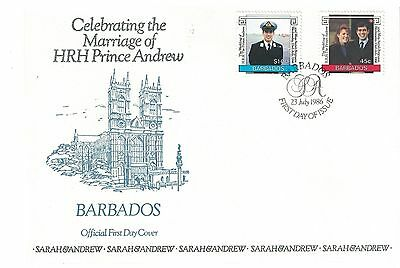 Barbados 687 - 688 - Royal Wedding. First Day Cover.  #02 BARB687FDC