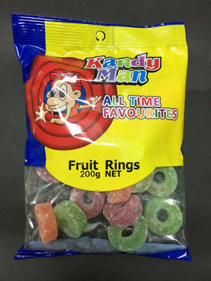 900g x Fruit Rings Lolly Candy Buffet Sweets Lollies Party Favors